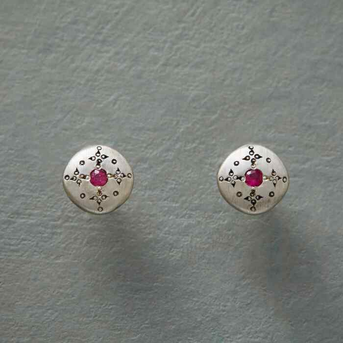 RUBY MOONDROPS & SPARKLE EARRINGS