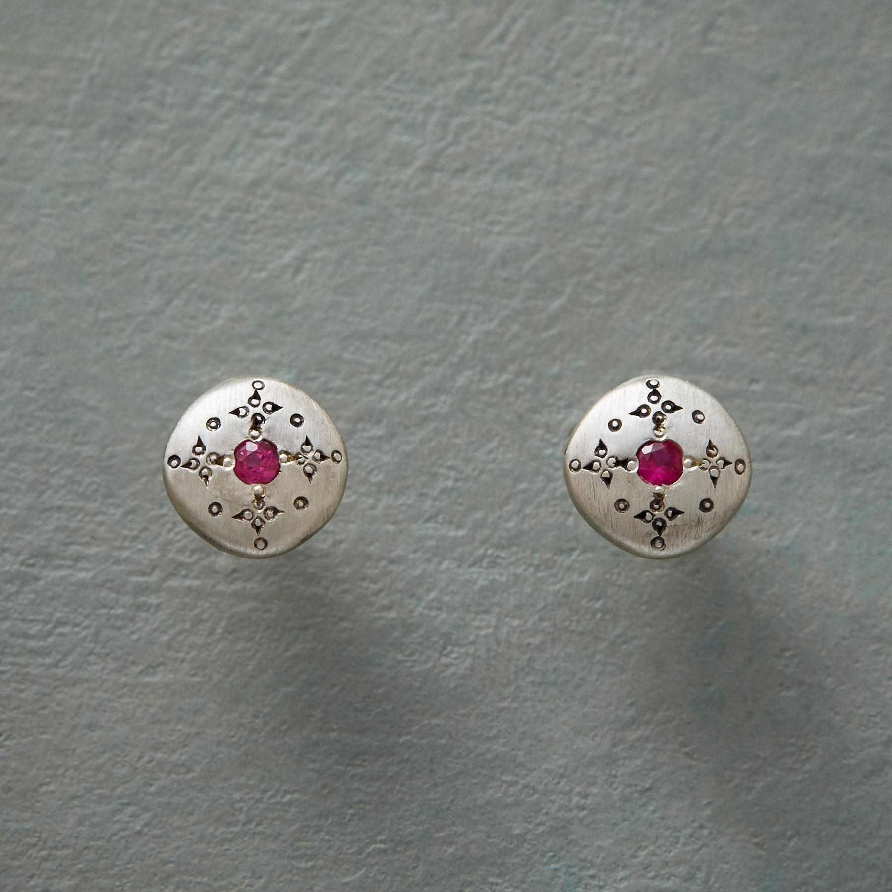 RUBY MOONDROPS & SPARKLE EARRINGS: View 1