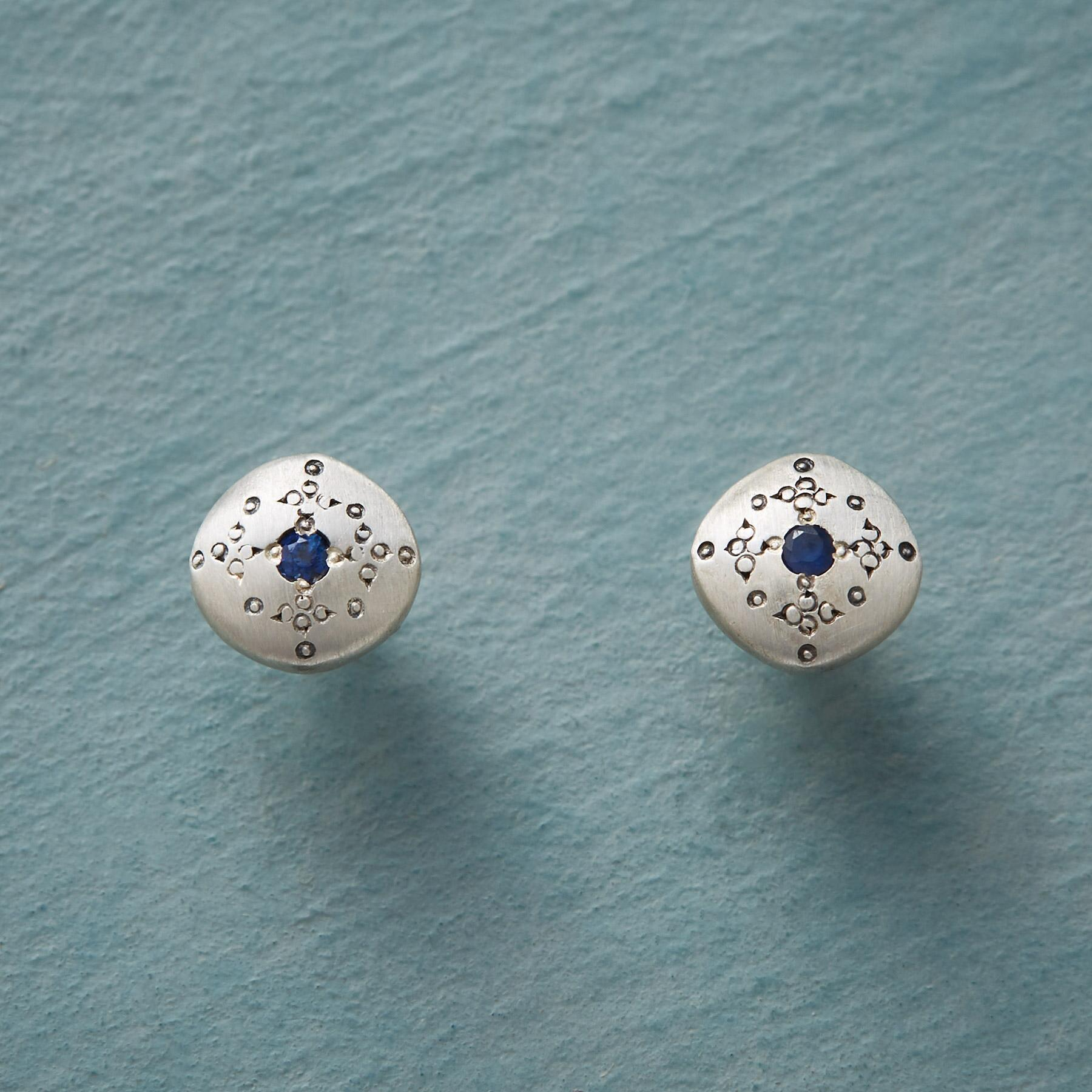 SAPPHIRE MOONDROPS & SPARKLE EARRINGS: View 1