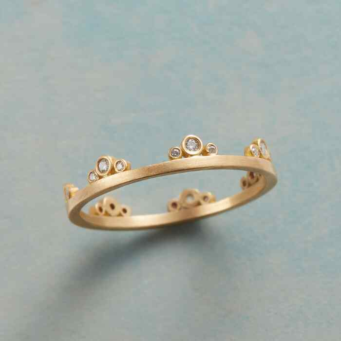 CROWN JEWELS GOLD RING
