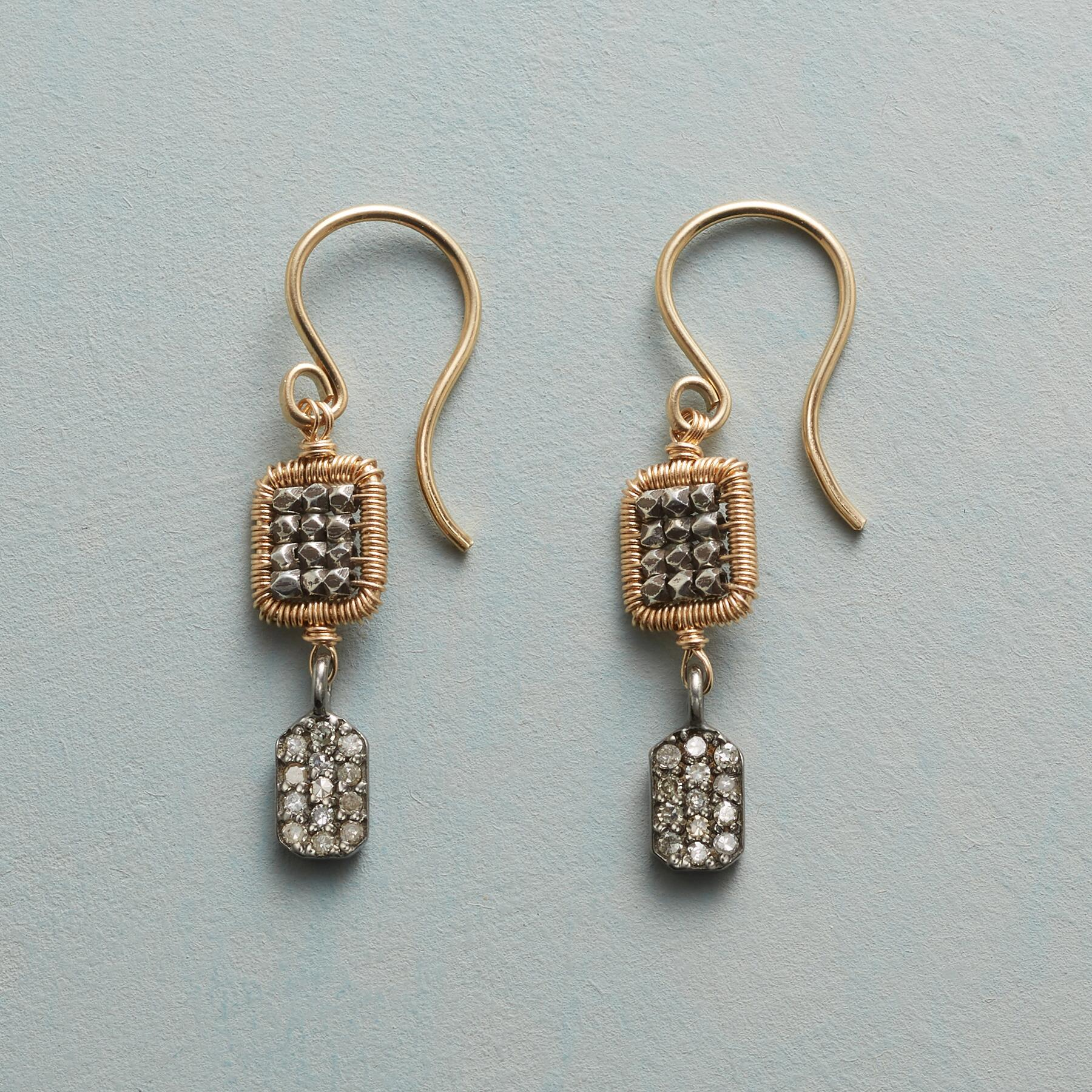 SQUARE UP DIAMOND EARRINGS: View 1