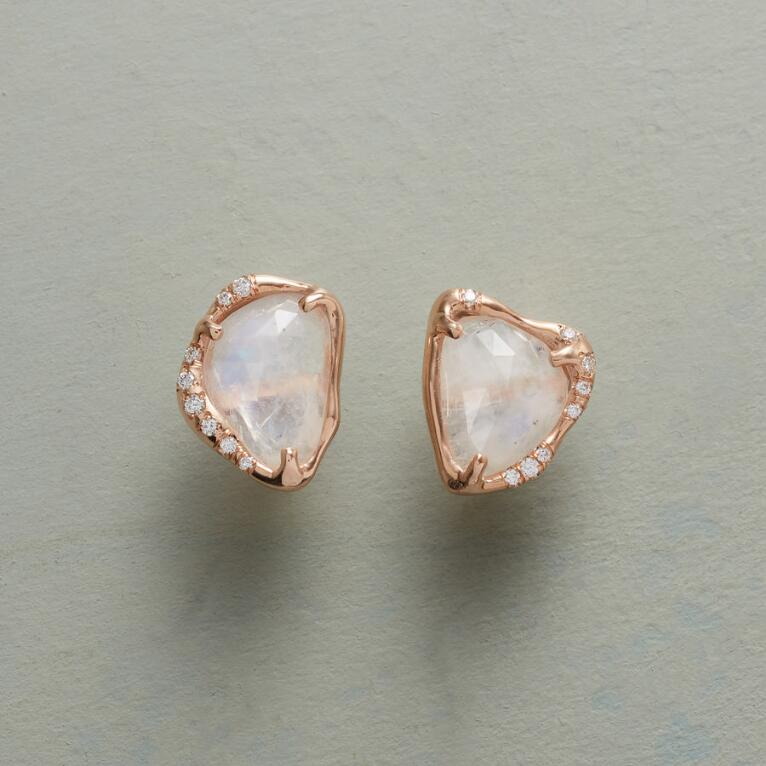 CAPRICE RAINBOW MOONSTONE EARRINGS