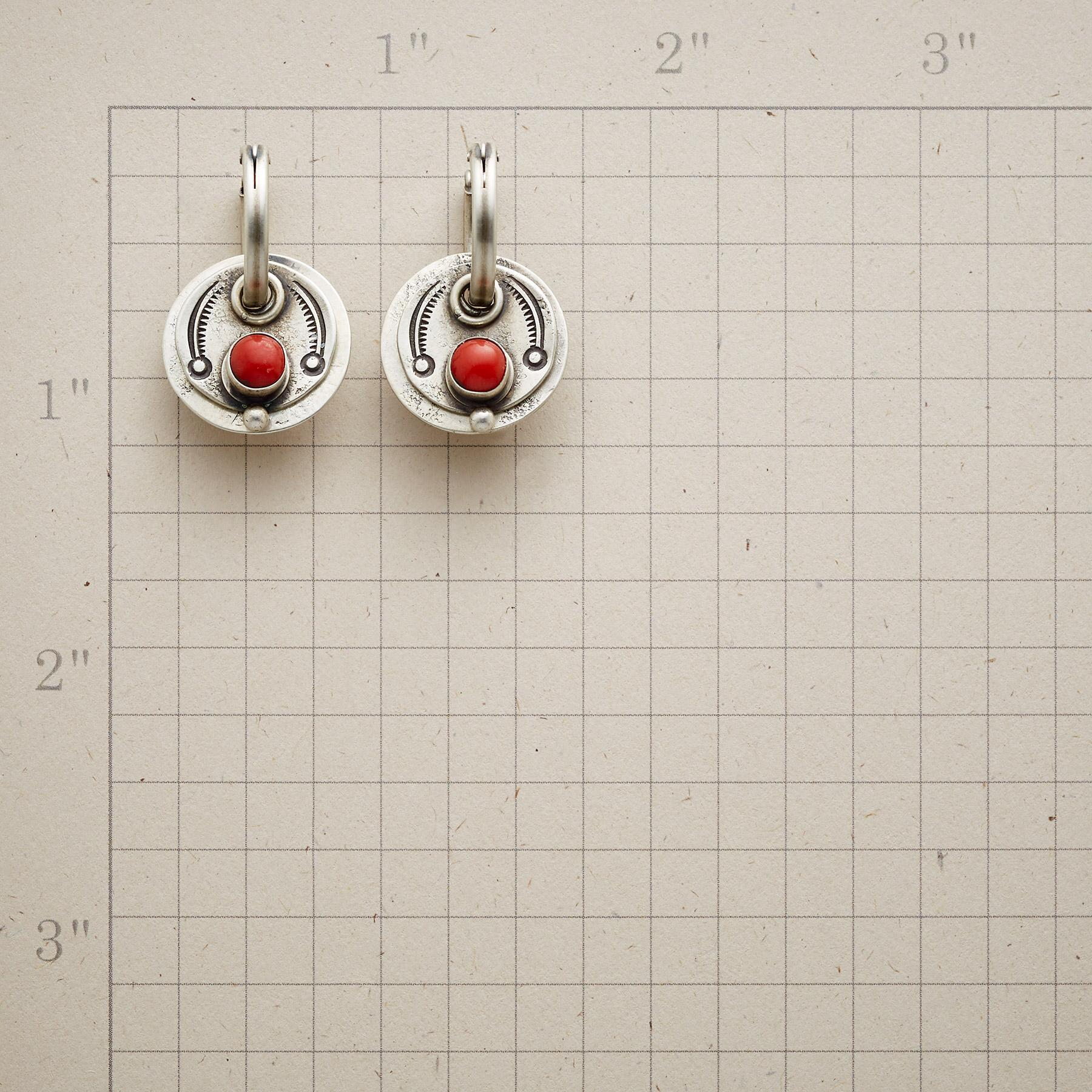 STAMPED CORAL EARRINGS: View 2