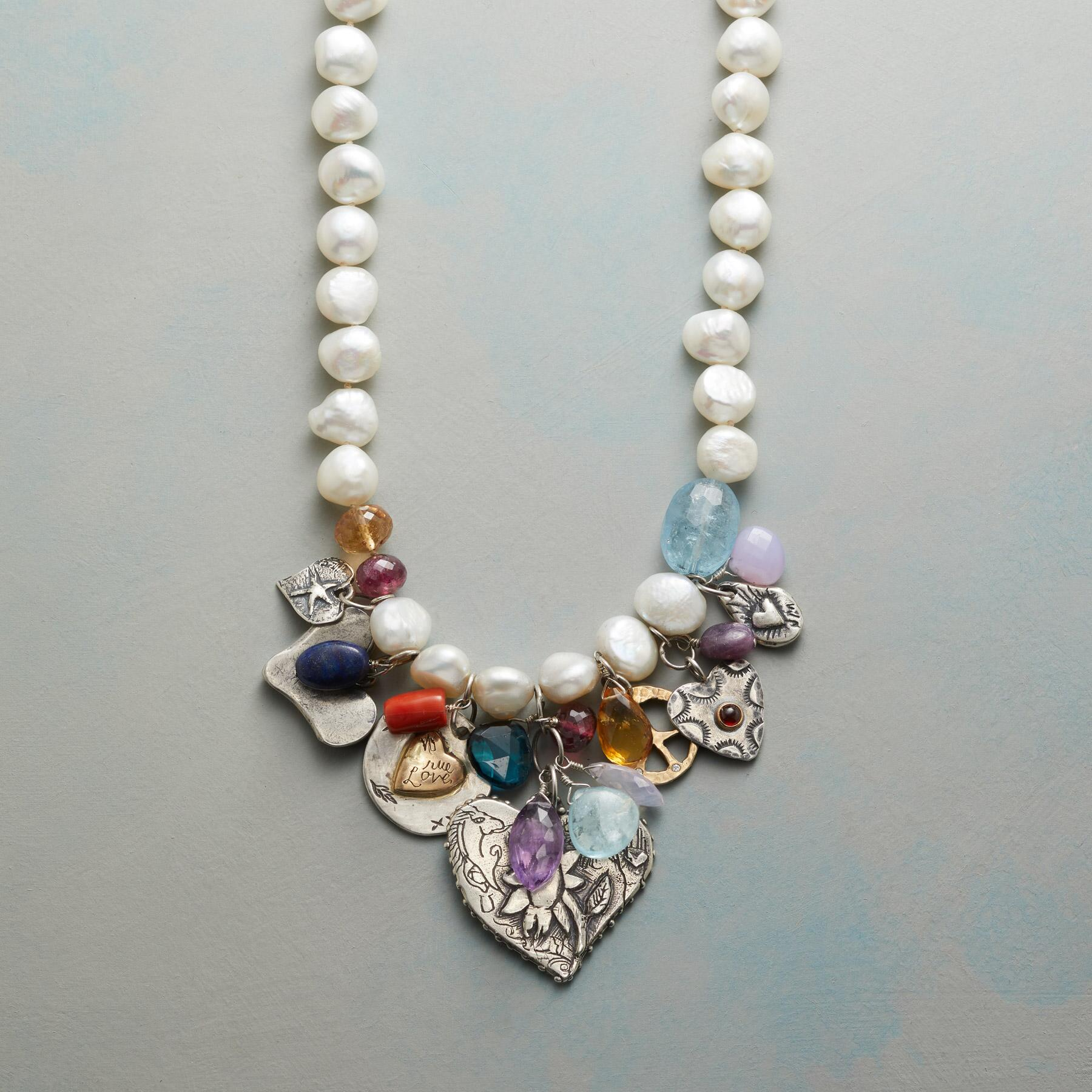 CHARMED PEARL NECKLACE: View 1