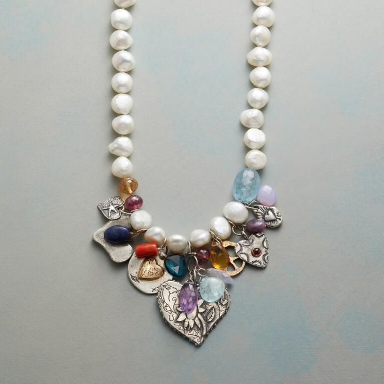CHARMED PEARL NECKLACE