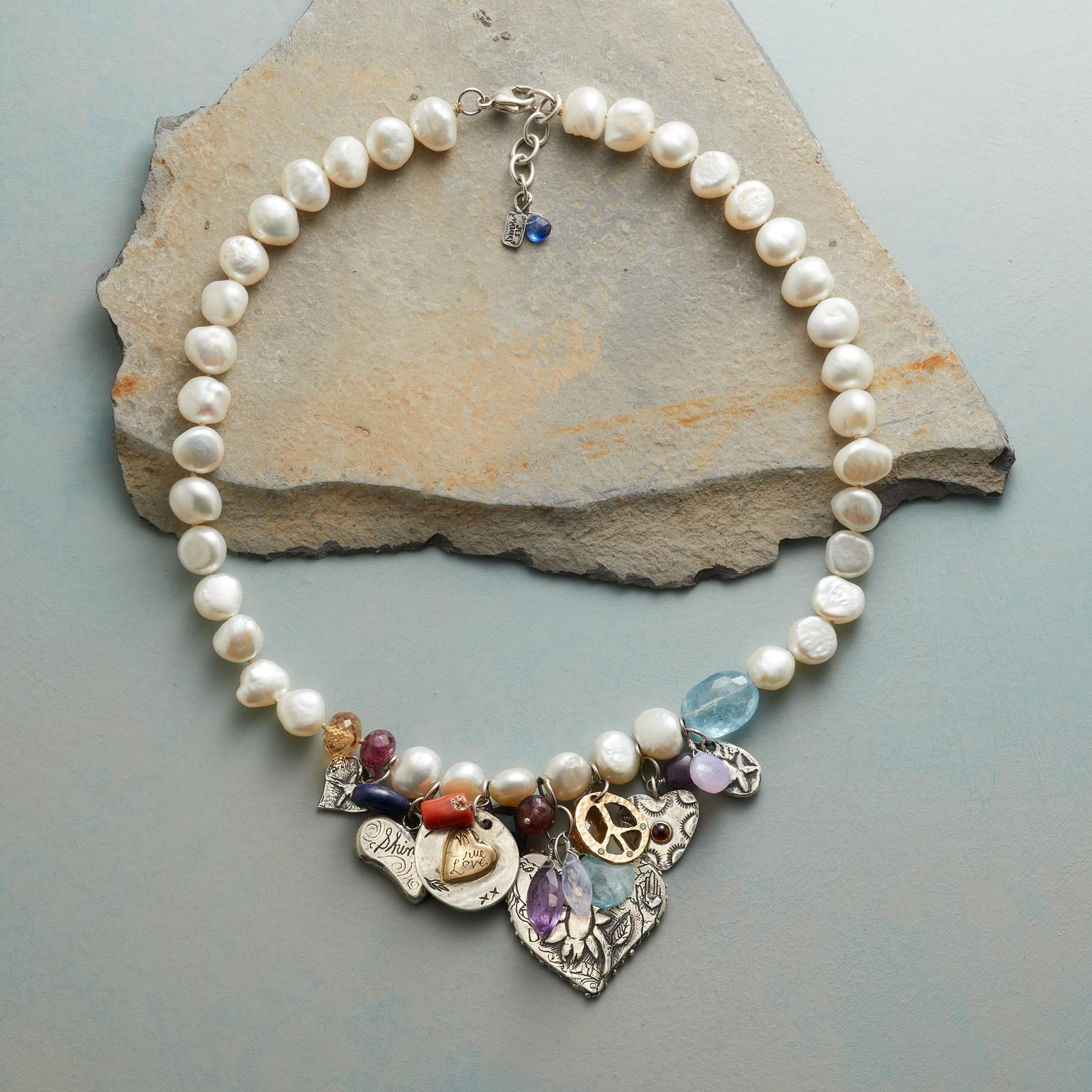 CHARMED PEARL NECKLACE: View 2