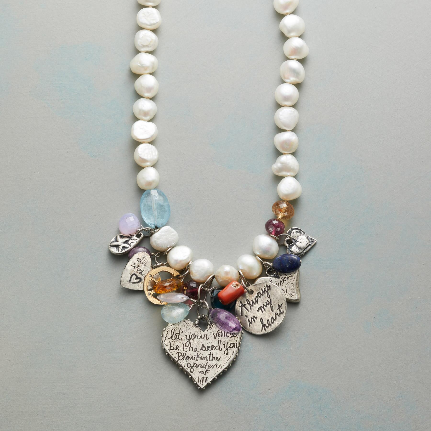 CHARMED PEARL NECKLACE: View 3