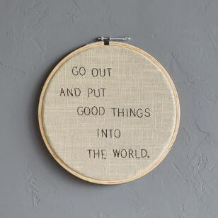 GOOD THINGS CROSS-STITCH EMBROIDERY HOOP