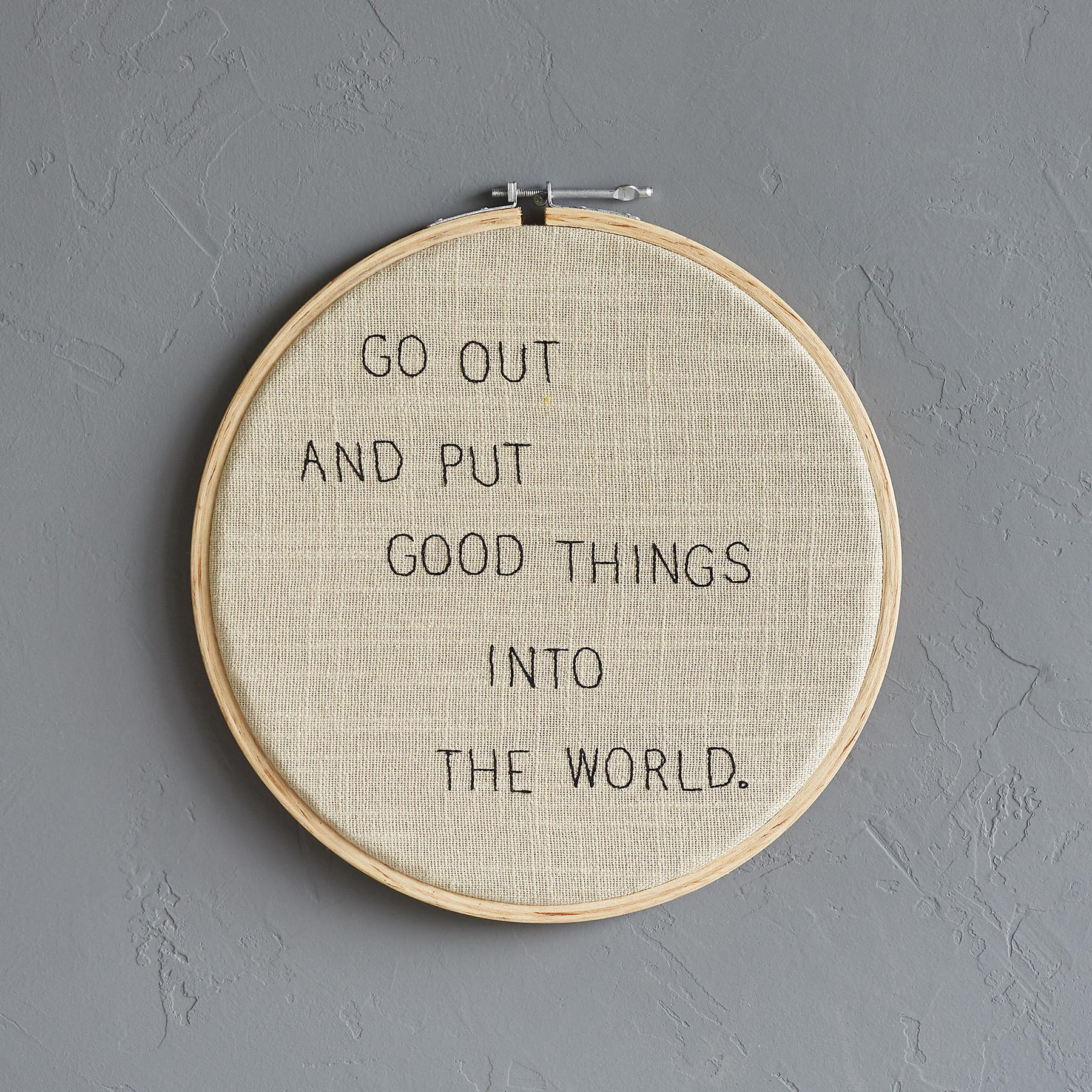 GOOD THINGS CROSS-STITCH EMBROIDERY HOOP: View 1