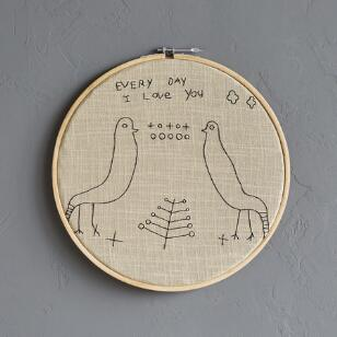 EVERY DAY I LOVE YOU CROSS-STITCH EMBROIDERY HOOP
