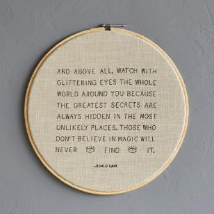 AND ABOVE ALL CROSS-STITCH EMBROIDERY HOOP
