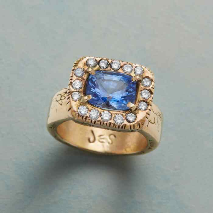 HER MAJESTY'S SAPPHIRE RING
