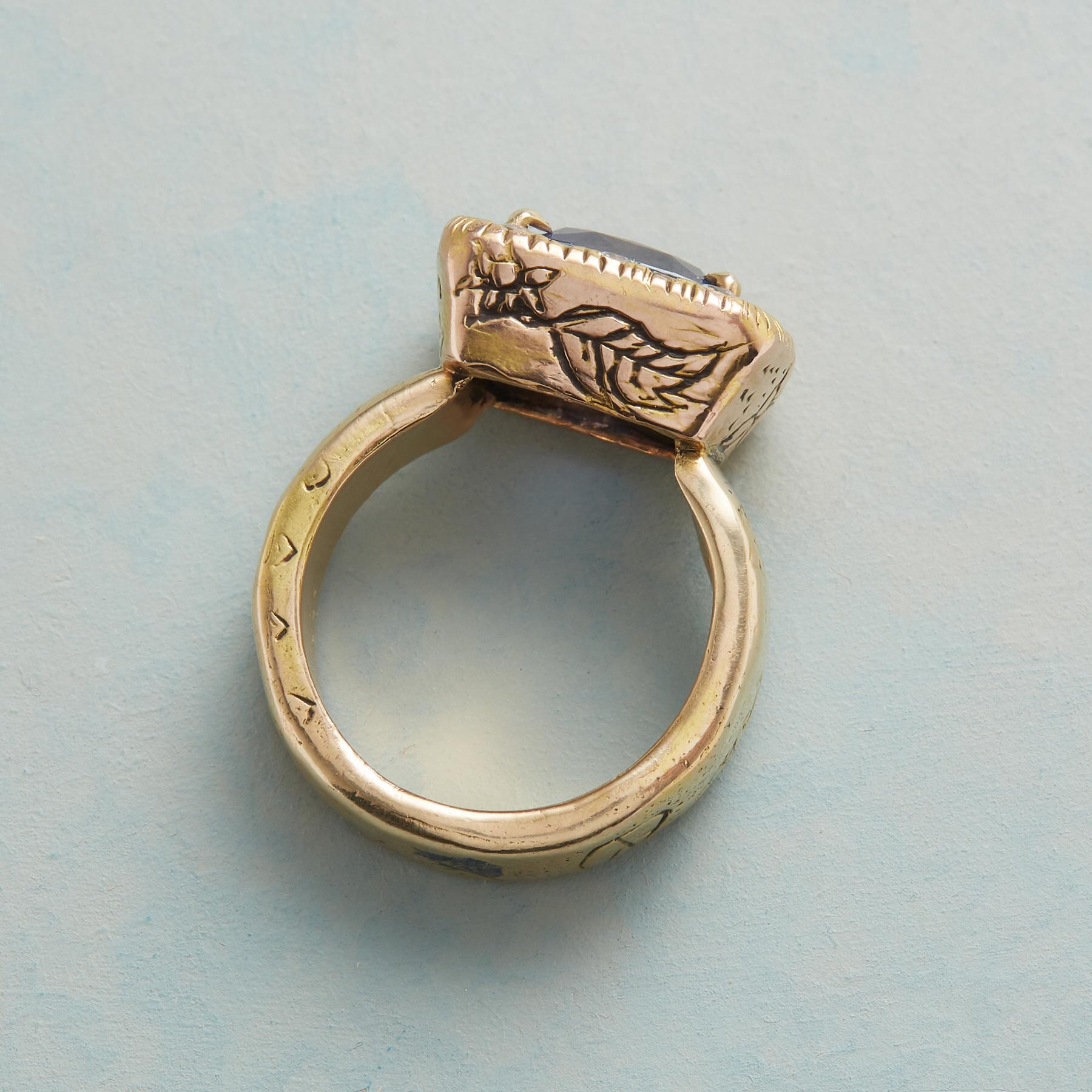 HER MAJESTY'S SAPPHIRE RING: View 2