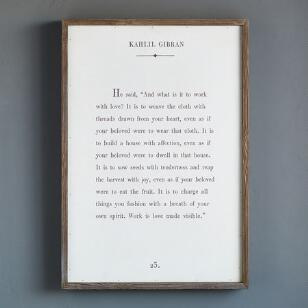 WORDS OF WISDOM PRINT BY KAHLIL GIBRAN