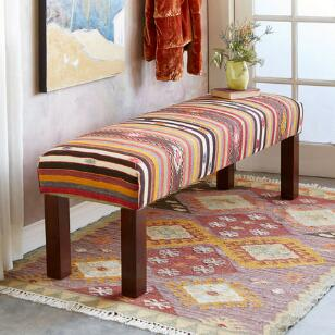 CARIA TURKISH KILIM BENCH