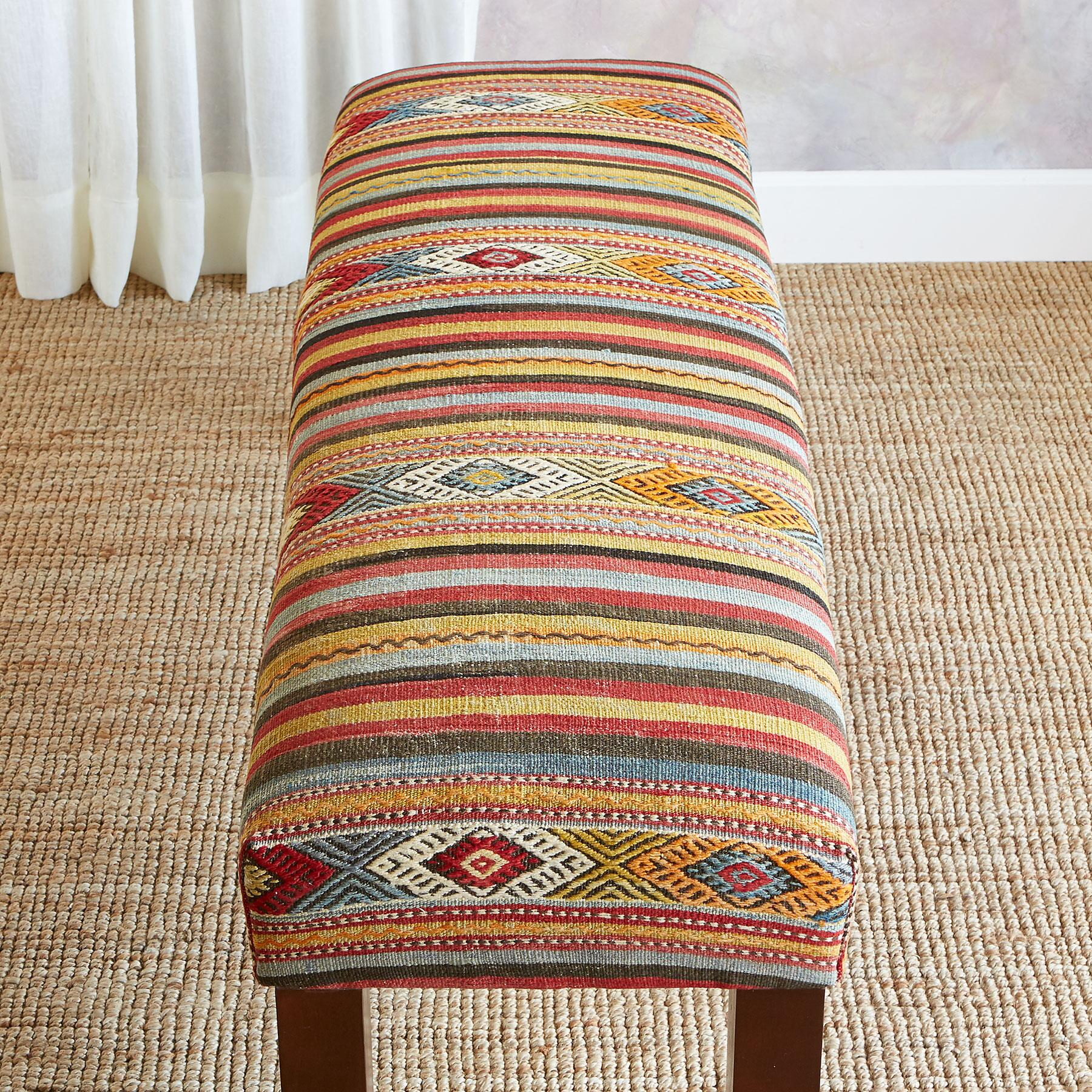 FERAY TURKISH KILIM BENCH: View 2