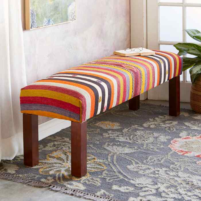 AFET TURKISH KILIM BENCH