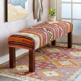 FILIZ TURKISH KILIM BENCH