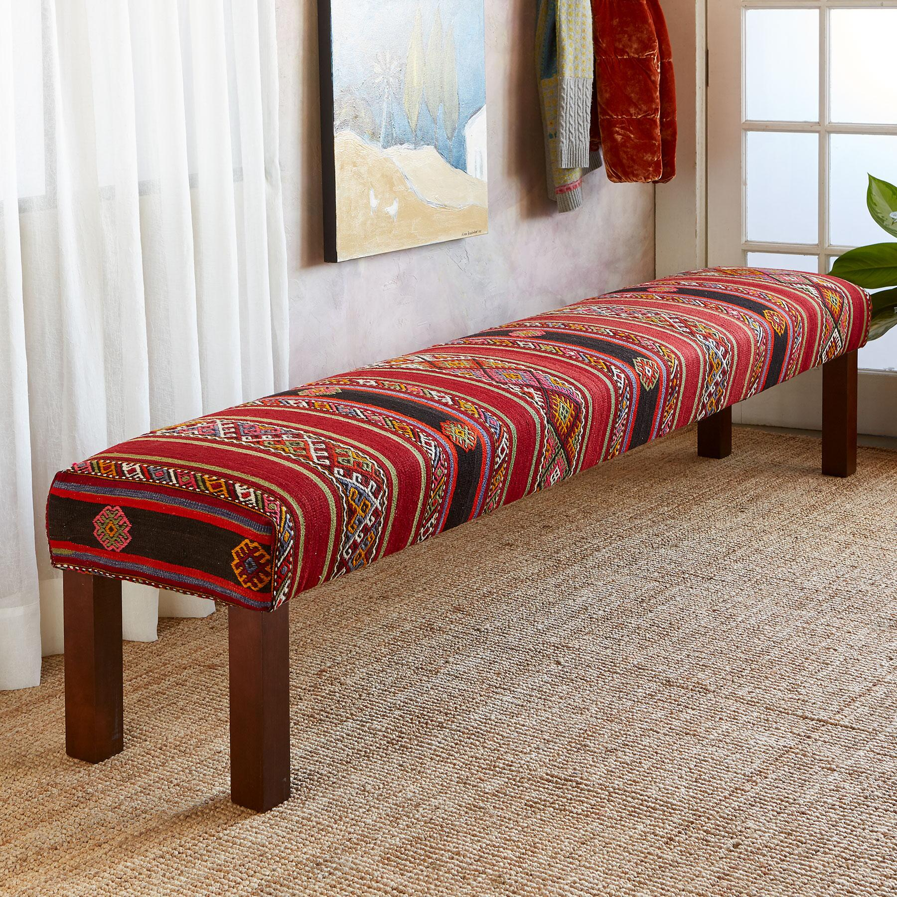 AYLEEN TURKISH KILIM BENCH: View 1