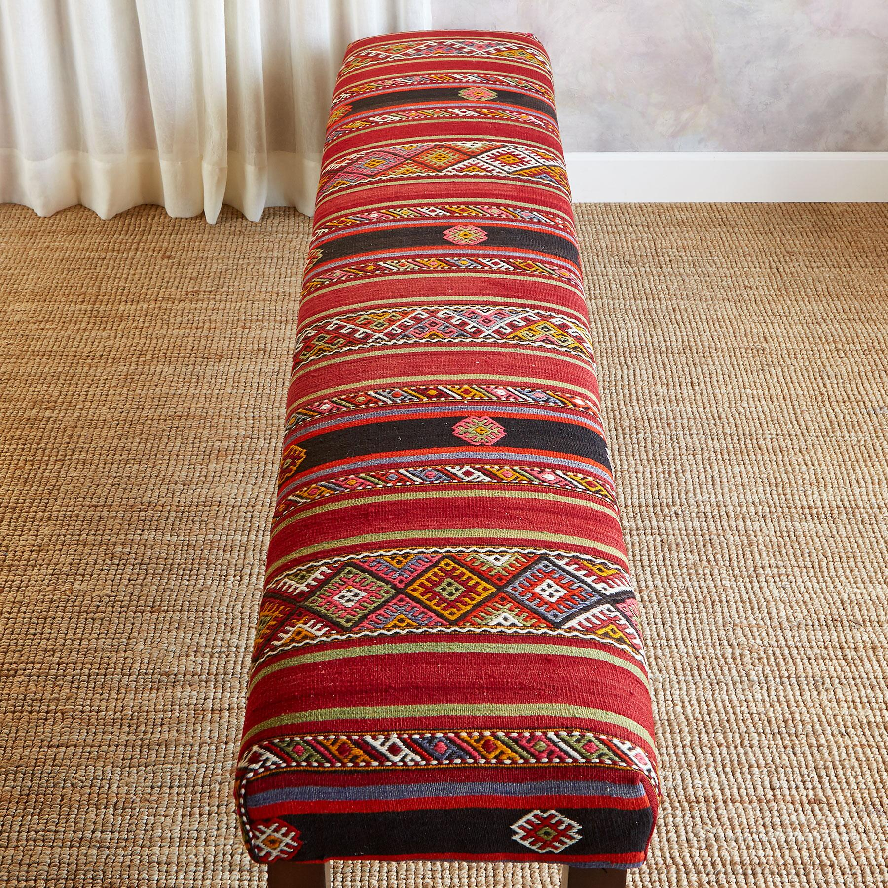 AYLEEN TURKISH KILIM BENCH: View 2