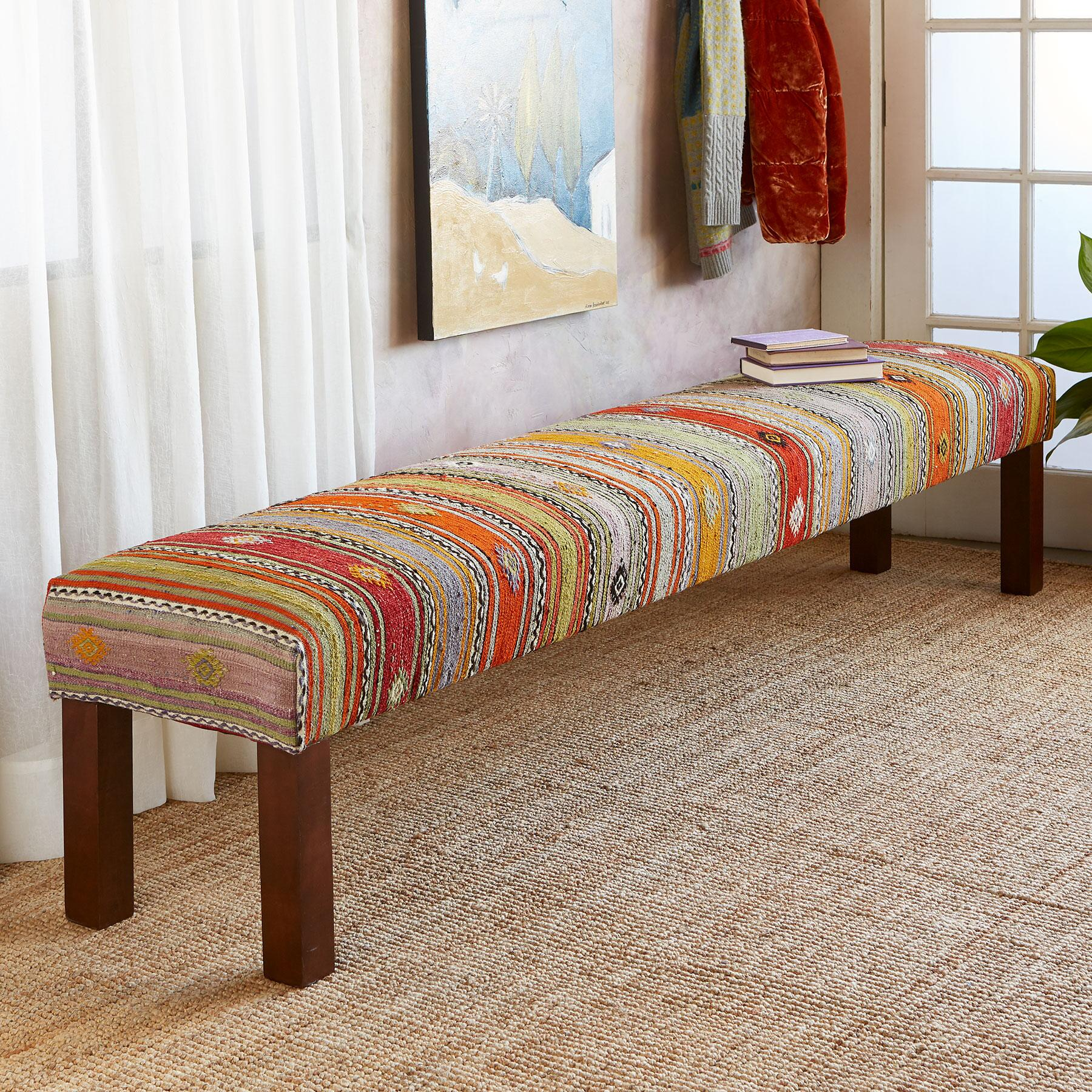 ASLI TURKISH KILIM BENCH: View 1