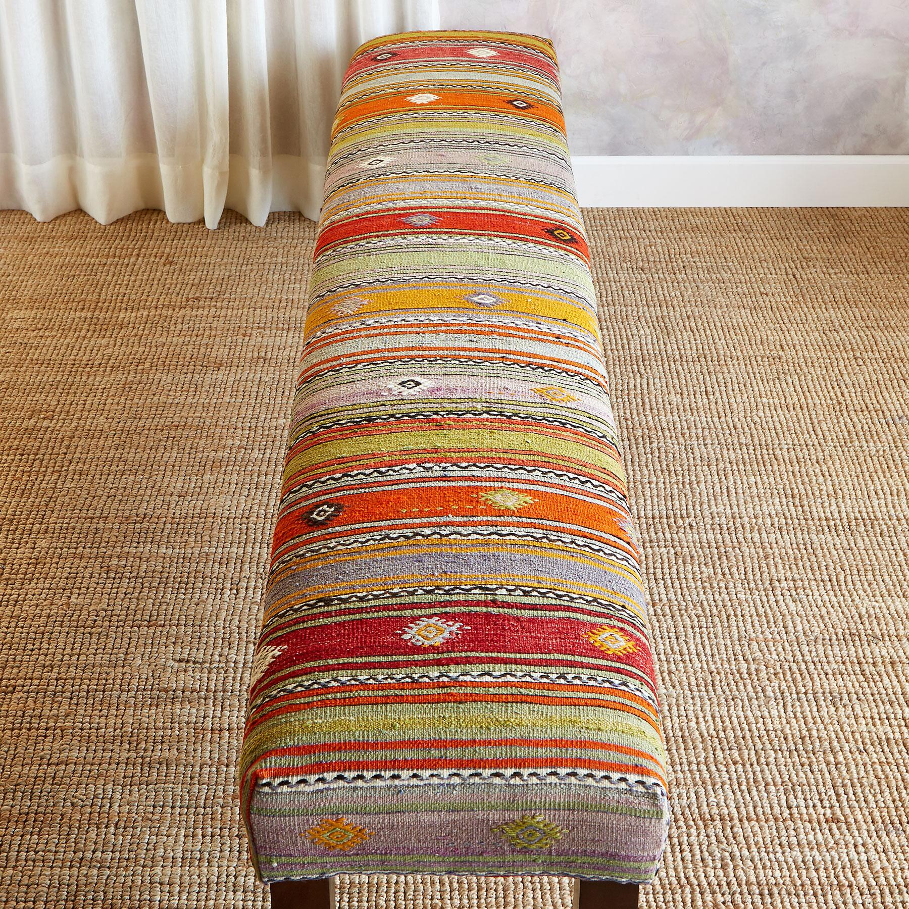 ASLI TURKISH KILIM BENCH: View 2
