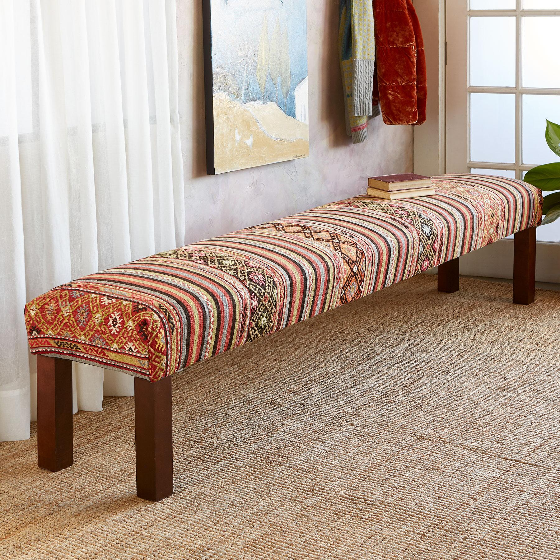 EMEL TURKISH KILIM BENCH: View 1