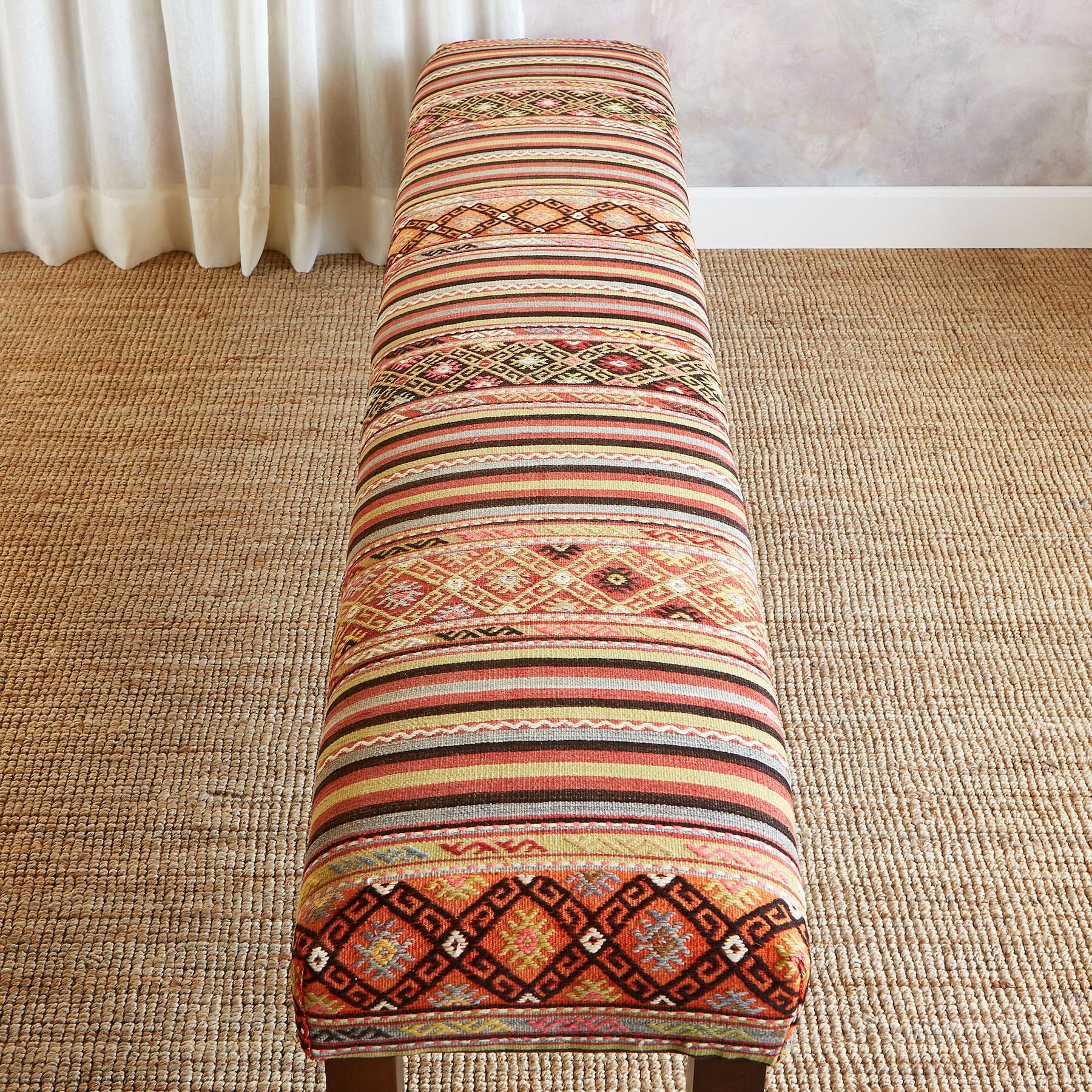 EMEL TURKISH KILIM BENCH: View 2