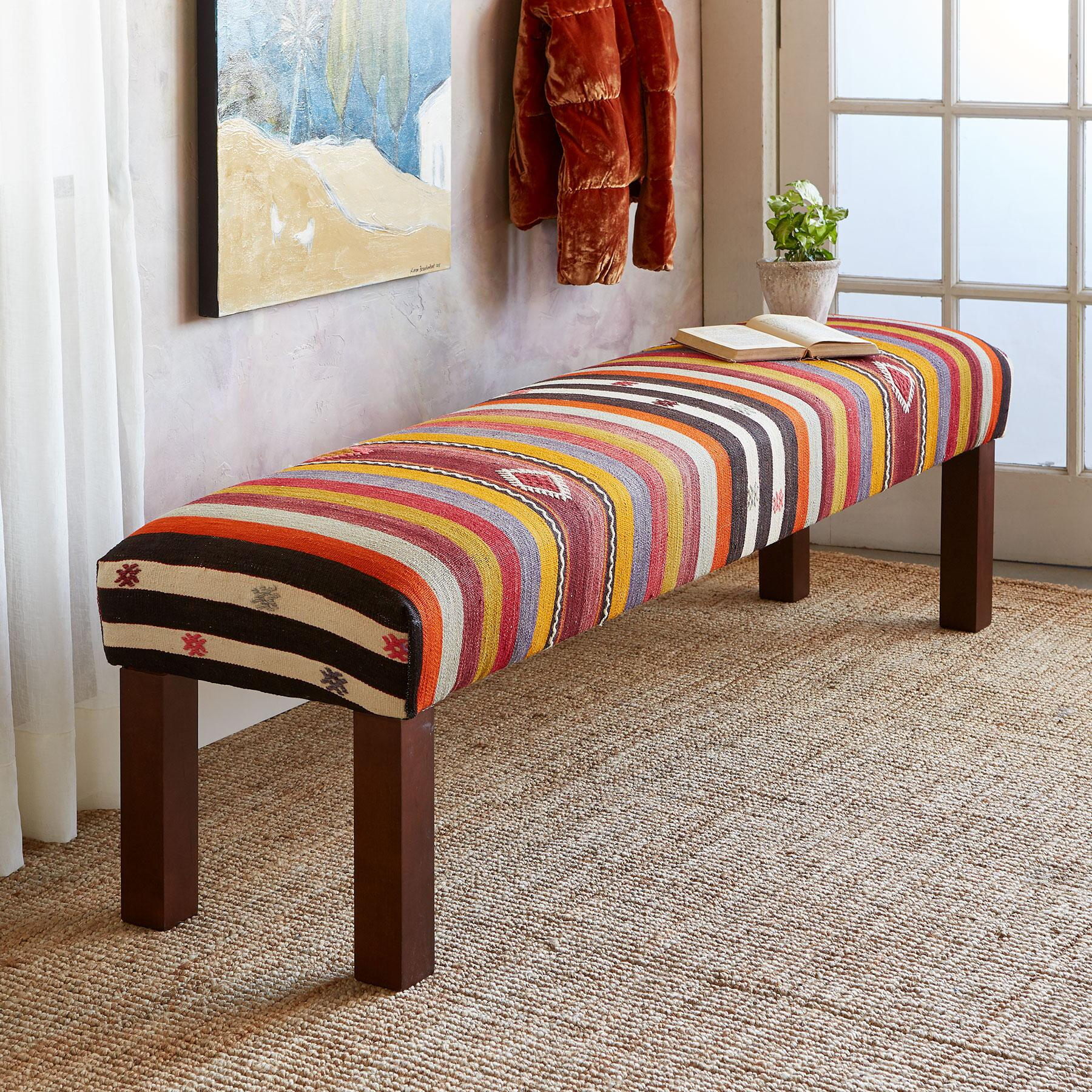 ALEV TURKISH KILIM BENCH: View 1