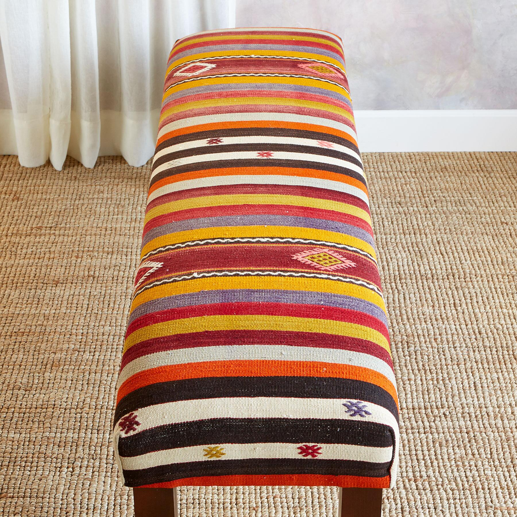 ALEV TURKISH KILIM BENCH: View 2