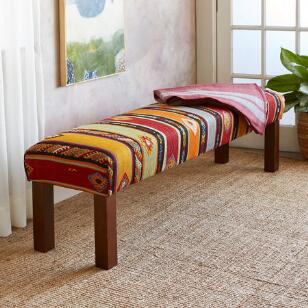 HANDE TURKISH KILIM BENCH