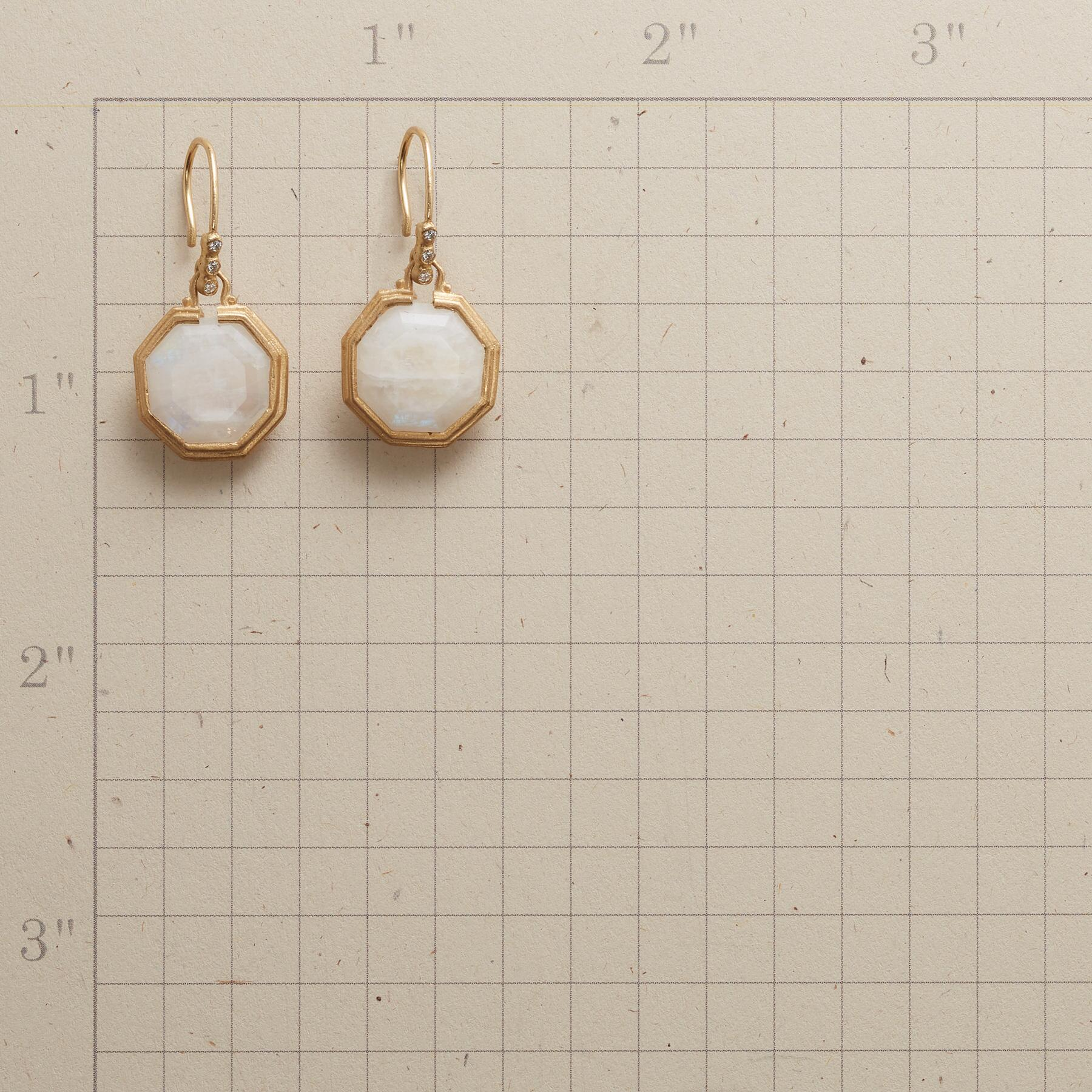 MYSTERE MOONSTONE EARRINGS: View 2