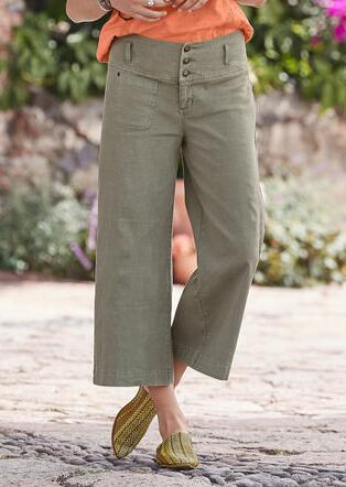 BRIANNA CROPPED PANTS - PETITES