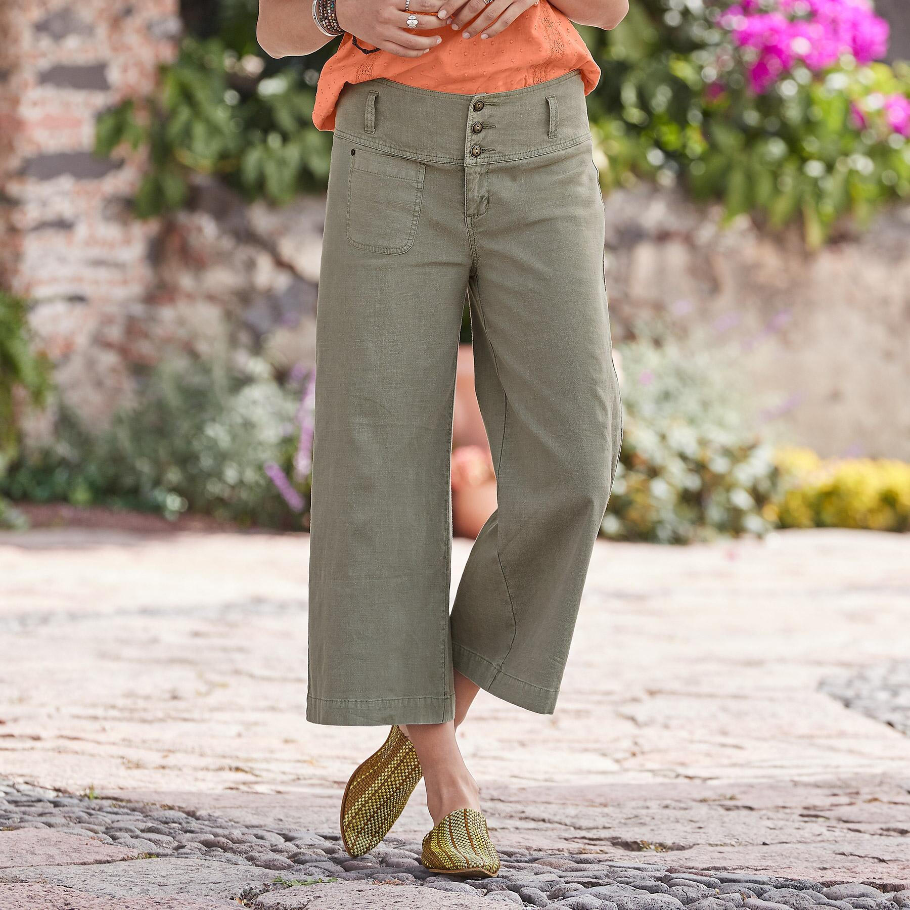 BRIANNA CROPPED PANTS - PETITES: View 1