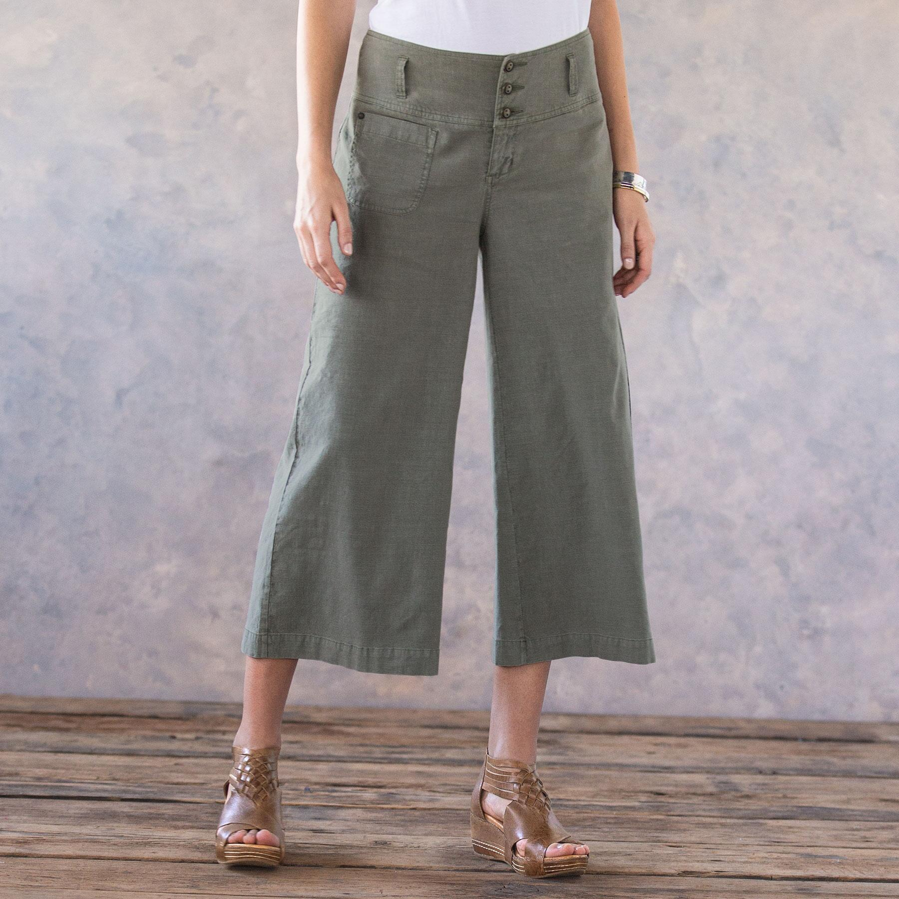 BRIANNA CROPPED PANTS - PETITES: View 2