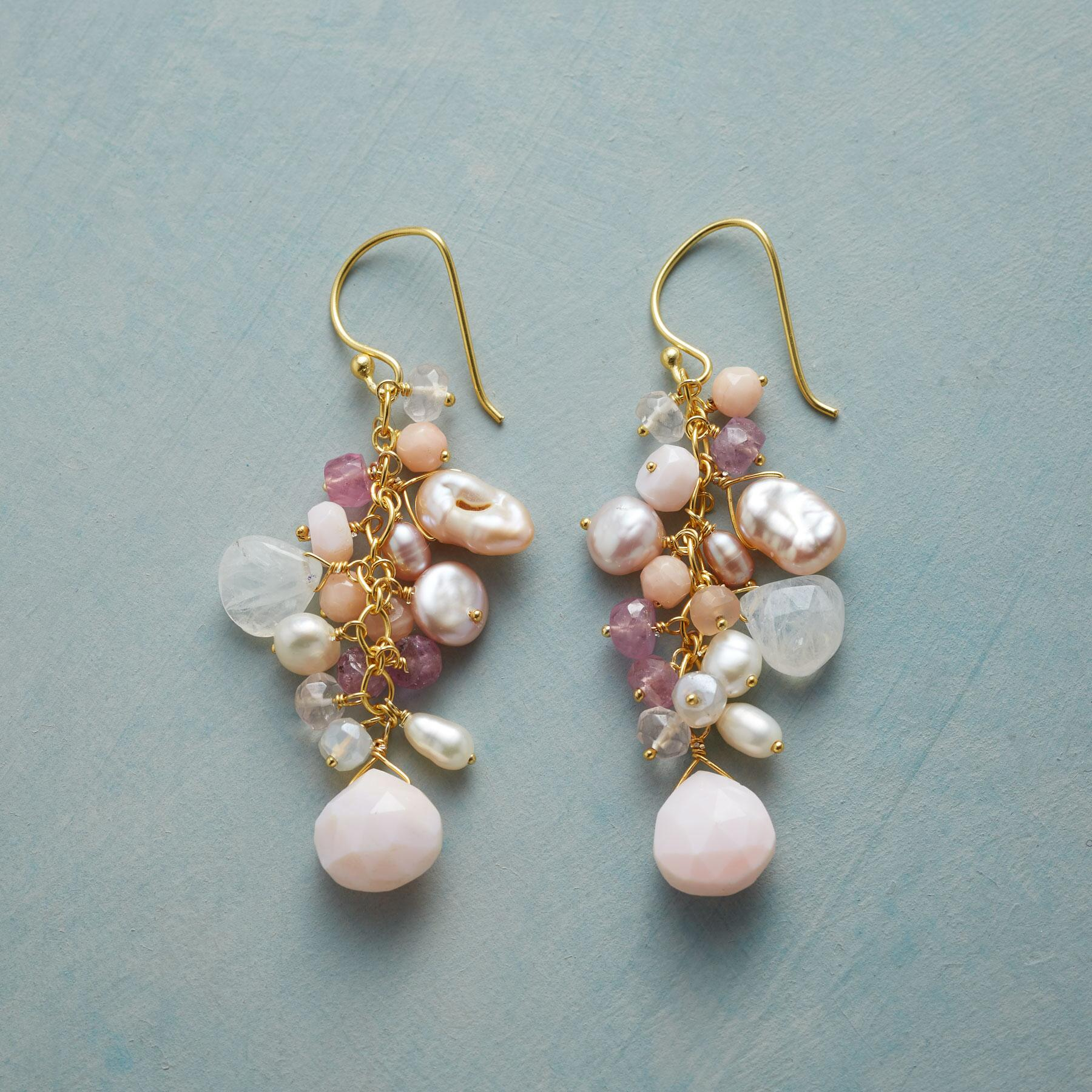 PINK CASCADE EARRINGS: View 1