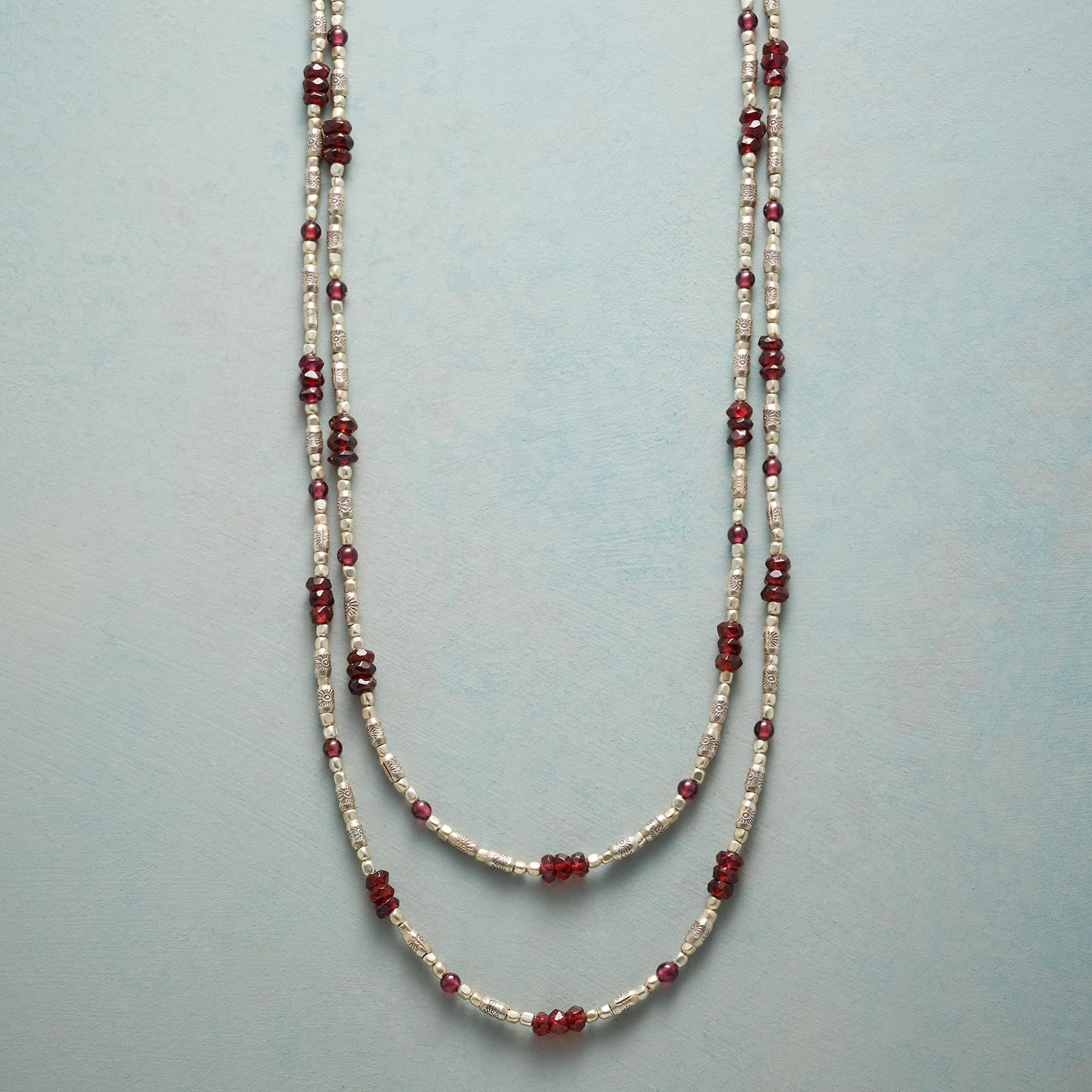 GLEAMING GARNET NECKLACE: View 1