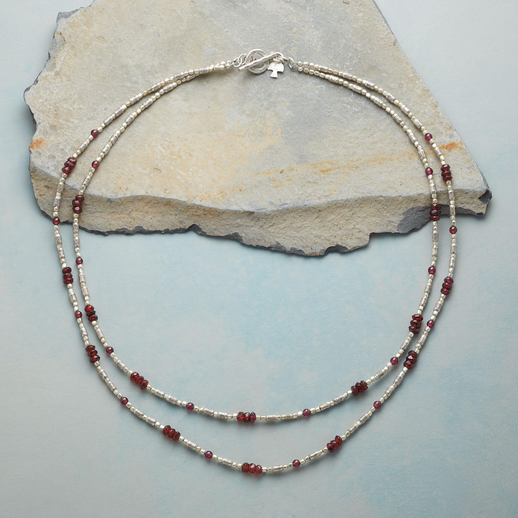 GLEAMING GARNET NECKLACE: View 2