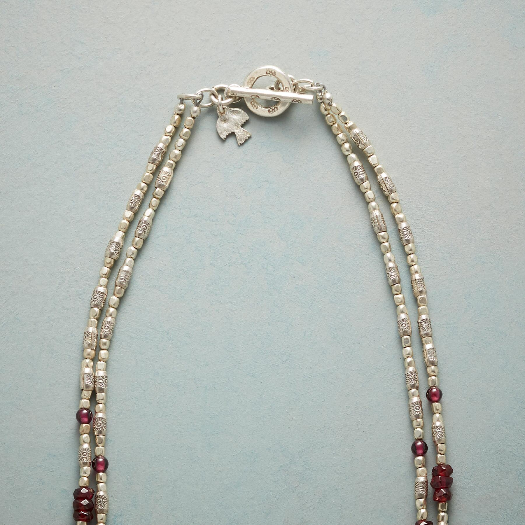 GLEAMING GARNET NECKLACE: View 3