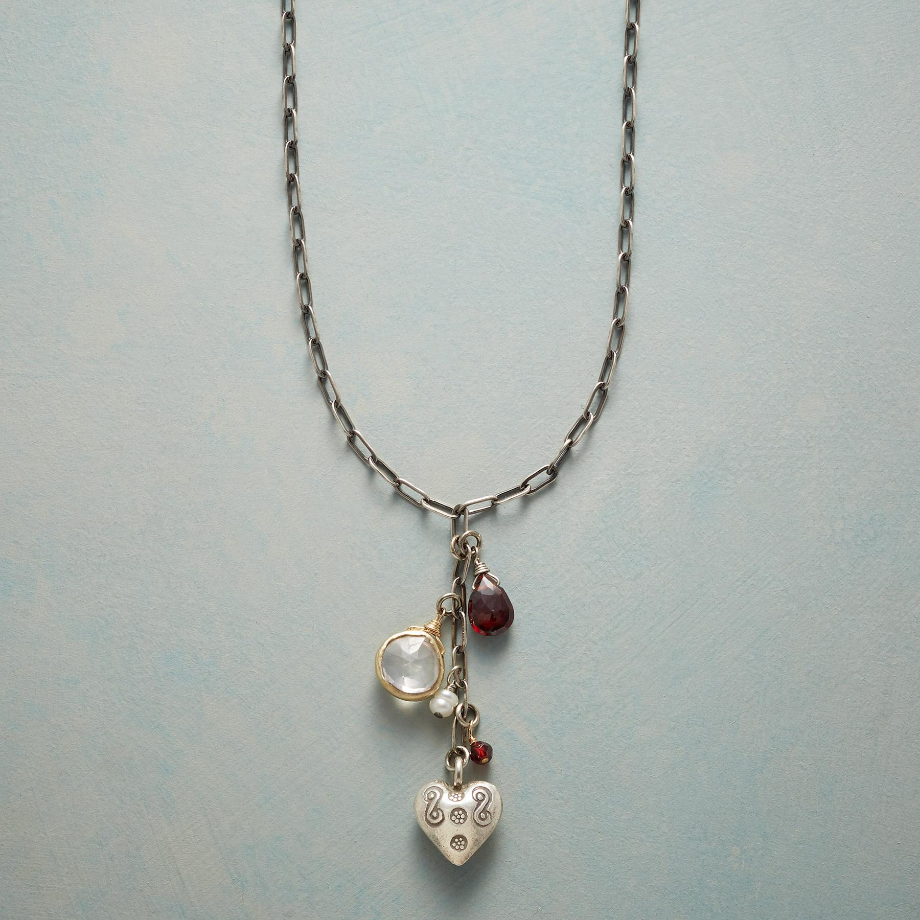 HEART ON A TASSEL NECKLACE: View 1