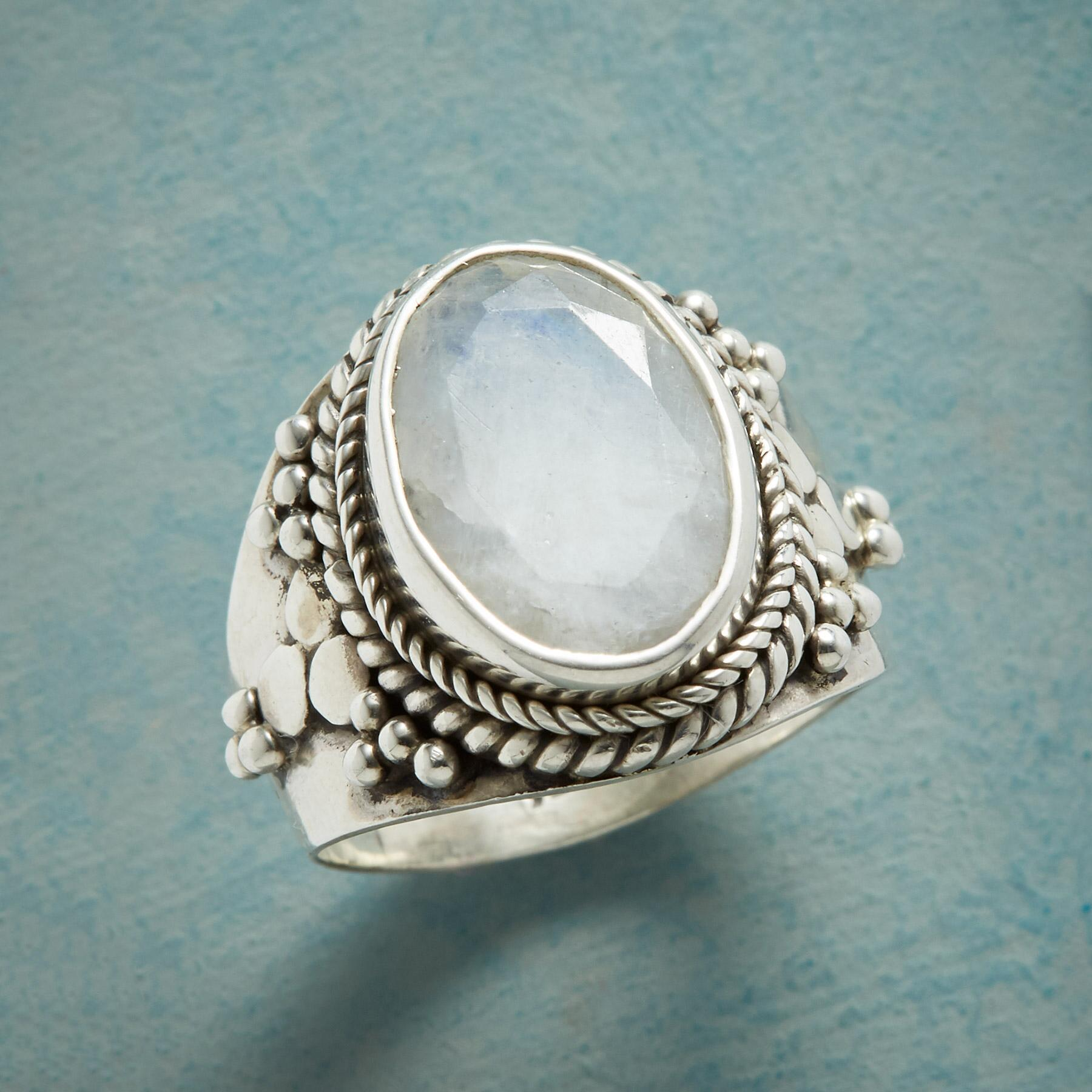 MOONSTONE CROWN RING: View 1