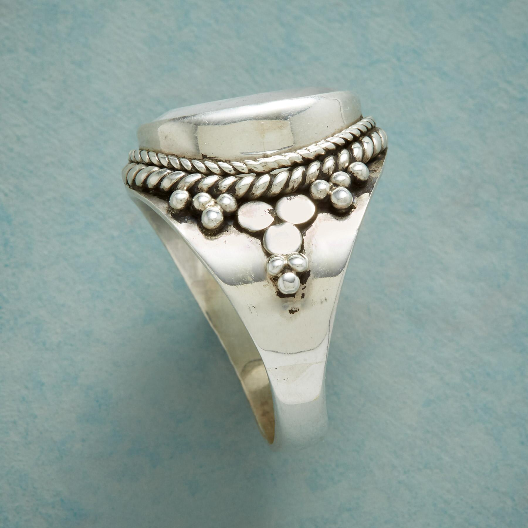 MOONSTONE CROWN RING: View 2