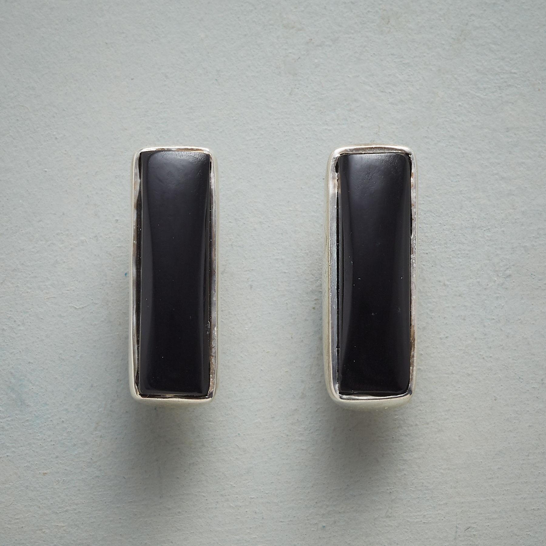SIMPLICITY IN BLACK EARRINGS: View 1