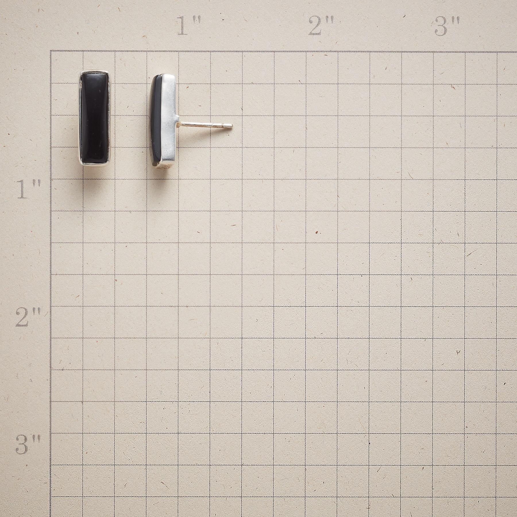 SIMPLICITY IN BLACK EARRINGS: View 2