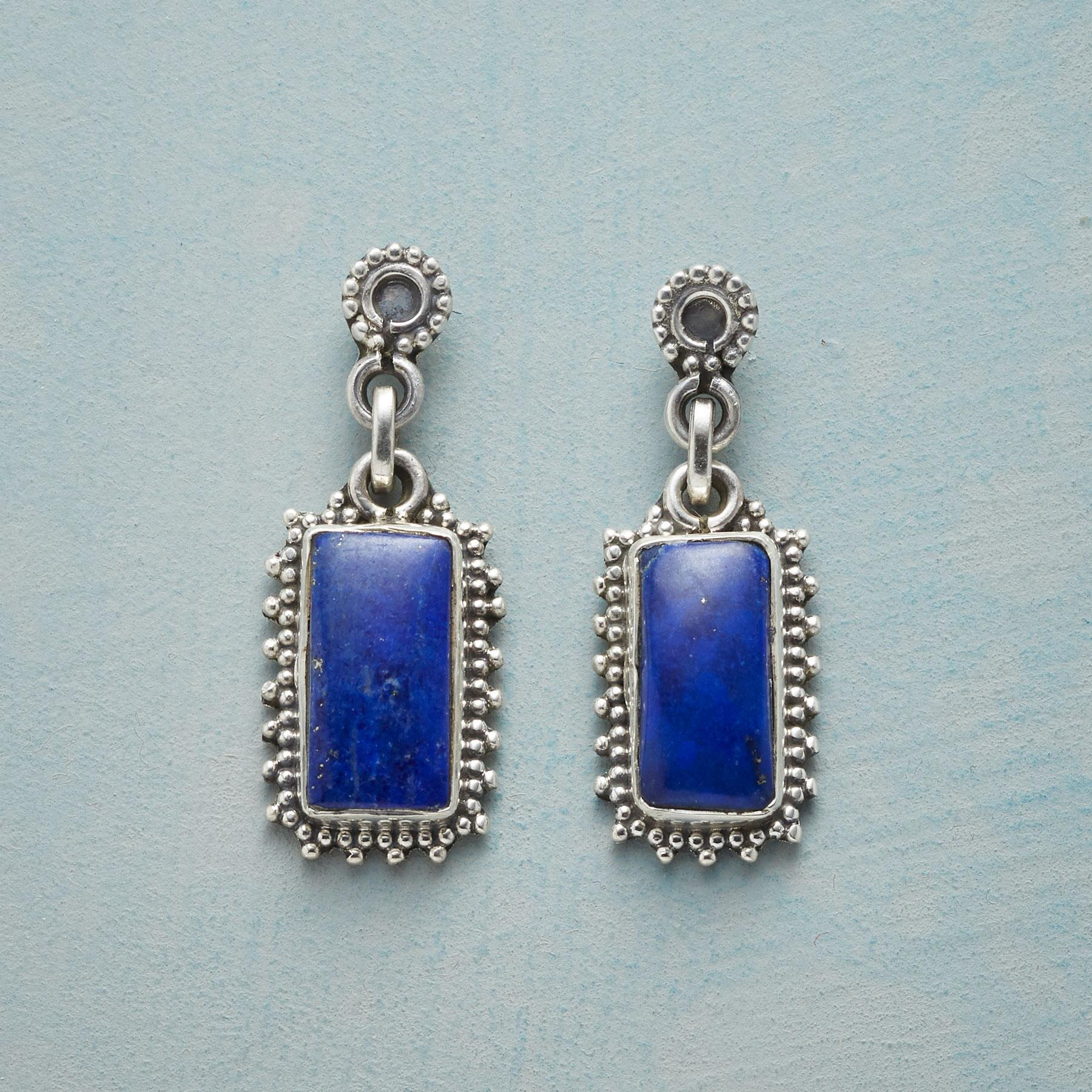 FRAMED LAPIS EARRINGS: View 1