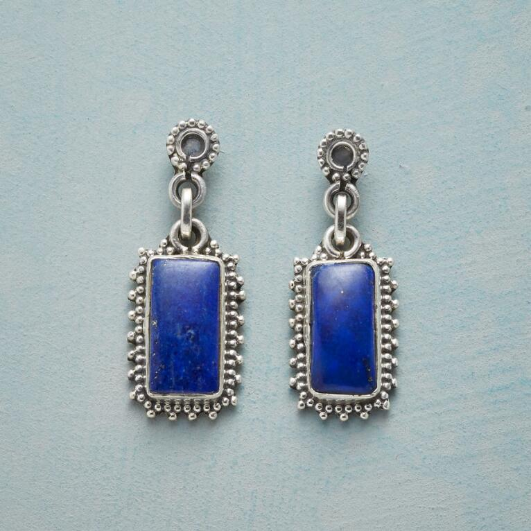 FRAMED LAPIS EARRINGS