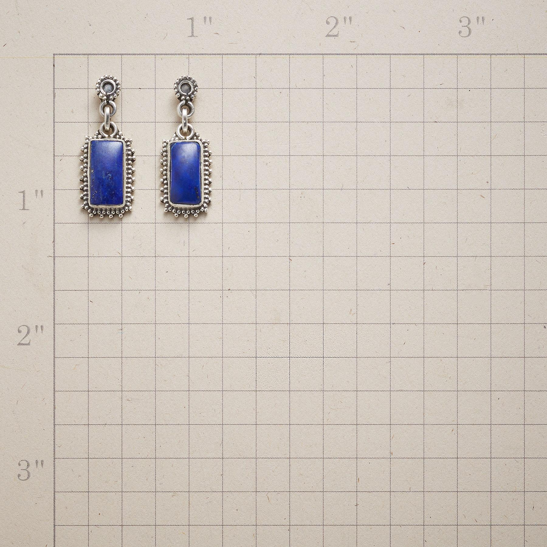 FRAMED LAPIS EARRINGS: View 2