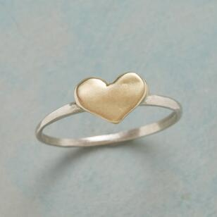 KISSED WITH GOLD RING