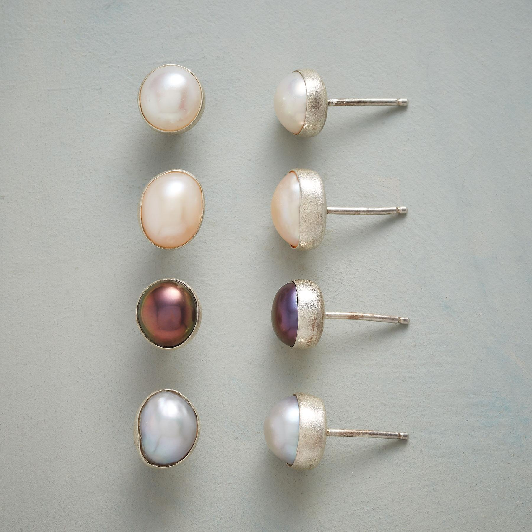 SHADES OF PEARL EARRINGS, SET OF 4: View 1
