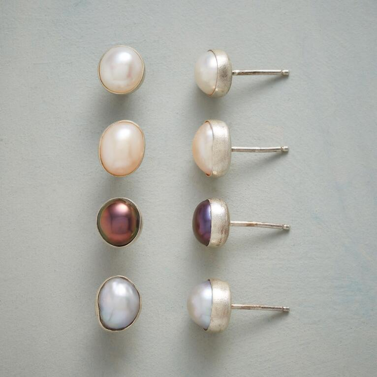 SHADES OF PEARL EARRINGS, SET OF 4
